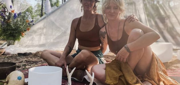Forest Sound Bath Immersion offered by Erin O'Neil & Elisa Wiebe.